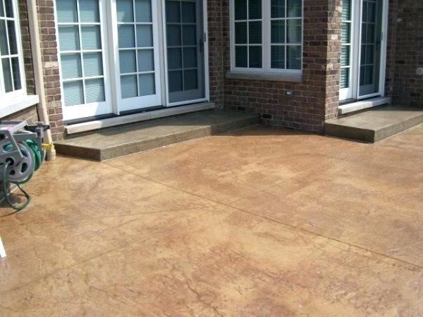 Concrete Stain Reviews Elegant Patio